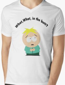 What, What in the butt? Mens V-Neck T-Shirt
