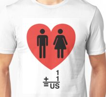 One Love Fits All (Male/Female) Unisex T-Shirt