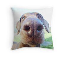 Giant dog nose Throw Pillow