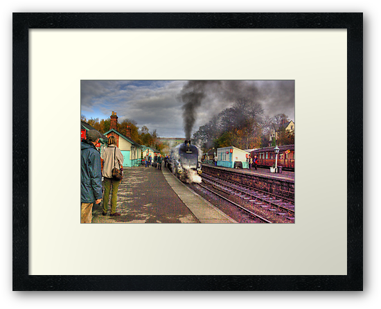 The Train Arriving - Grosmont North Yorkshire by Trevor Kersley