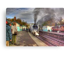 The Train Arriving - Grosmont North Yorkshire Metal Print