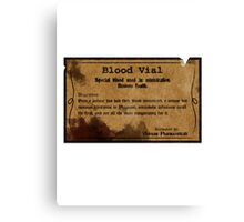 Blood Vial - Bloodborne Canvas Print