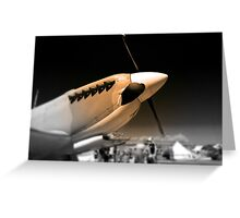 Spitfire Mk 1A aircraft Greeting Card