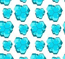 geometric seamless pattern with hexagons-4 by Ann-Julia