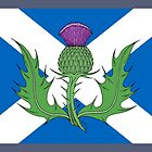 Scottish Thistle & Saltire by Richard Fay