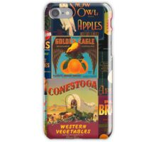 Vintage Fruit and Veggie Crate Labels iPhone Case/Skin