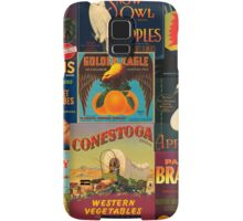 Vintage Fruit and Veggie Crate Labels Samsung Galaxy Case/Skin