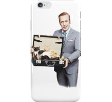Bob Odenkirk Holding a Box of Cats iPhone Case/Skin
