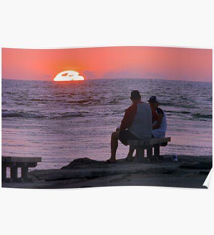 Naples Sunset Poster