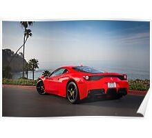 Ferrari 458 Speciale in California Poster