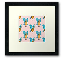 seamless pattern with appealing  fly Framed Print