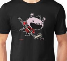 Stormy the Hockey Pig Unisex T-Shirt