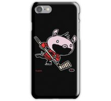 Stormy the Hockey Pig iPhone Case/Skin