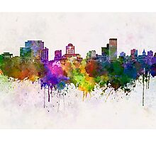 Columbia skyline in watercolor background Photographic Print