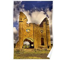 Remains of Ferranti Engine House ... Lithgow Blast Furnace Poster