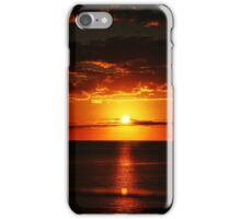 Red sunset on the ocean iPhone Case/Skin