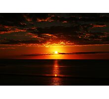 Red sunset on the ocean Photographic Print