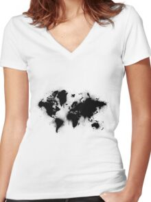 stained earth 2 Women's Fitted V-Neck T-Shirt