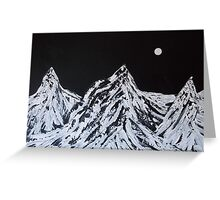 Midnight Landscape - Art by Holly Cannell Greeting Card
