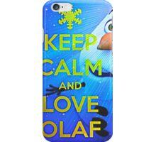 Keep Calm Love Olaf iPhone Case/Skin
