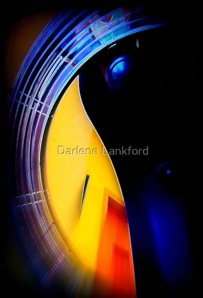 Abstract  Hair Dryer by Darlene Lankford Honeycutt