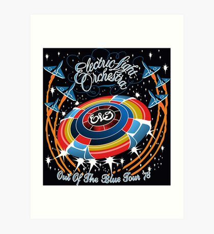 E.L.O. Out of The BLUE TOUR Art Print