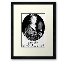 War Singer Framed Print