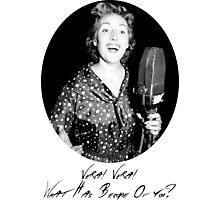 War Singer Photographic Print