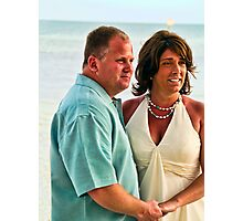 Tara and Kevin Exchange Wedding Vows Photographic Print