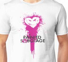 Painted Sabotage Logo White background Unisex T-Shirt