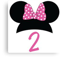 Minnie Mouse 2nd Birthday Canvas Print