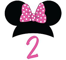 Minnie Mouse 2nd Birthday Photographic Print