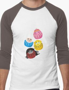 Adventure Daruma Men's Baseball ¾ T-Shirt
