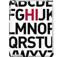 Alphabet Hello iPad Case/Skin