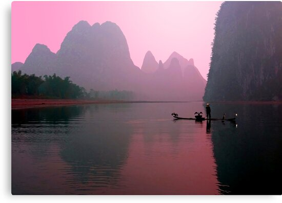 PINK DAWN - LI RIVER by Michael Sheridan