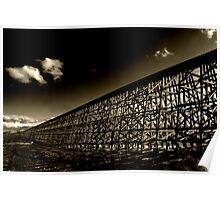 Rochfort Rail Bridge..Sepia Poster