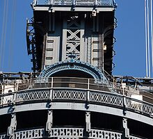 Manhattan Bridge Detail by John Schneider