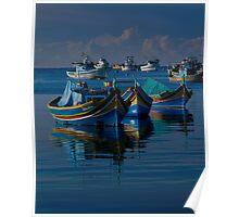 Luzzu Mediterranean Blue Poster