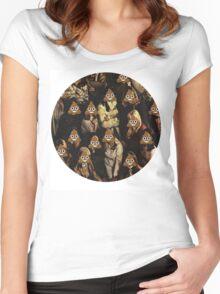 Emoji Crowd Women's Fitted Scoop T-Shirt