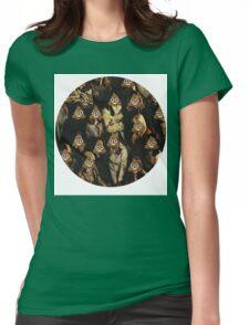 Emoji Crowd Womens Fitted T-Shirt
