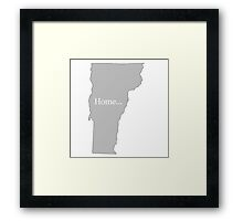 Vermont Home Tee Framed Print