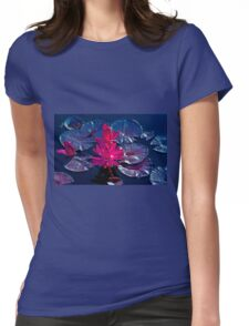Pink Water Lillies Womens Fitted T-Shirt