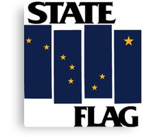 Alaska State Flag (Black Flag inspired) Canvas Print