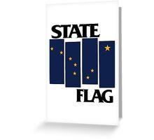 Alaska State Flag (Black Flag inspired) Greeting Card