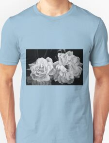 Roses in Black and White T-Shirt