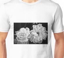 Roses in Black and White Unisex T-Shirt