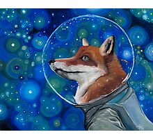Wonderment of a Space Fox Photographic Print