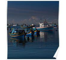 Luzzu Mediterranean Blue II Poster