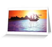 Black Sails In The Sunset Greeting Card