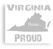 Virginia Proud Home Tee Canvas Print